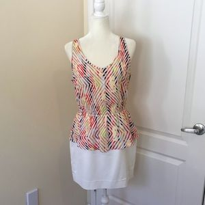 BCBGeneration Peplum Colorblock Dress Summer sz 12